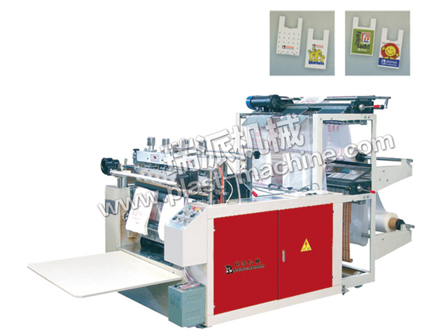 TWO LINES HEAT SEALING HEAT CUTTING BAG MAKING MACHINE
