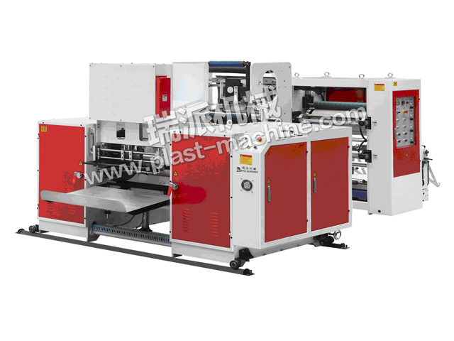 AUTOMATIC PERFORATING AND DOTTING TRASH BAG MAKING MACHINE